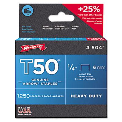 Arrow T50 Heavy Duty Staples, 0.38