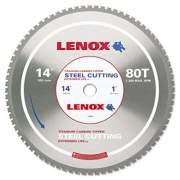 "LENOX 80T Circular Saw Blade, Steel-Cutting, 14"", 1"" Arbor, 1800rpm (21891ST140080CT)"