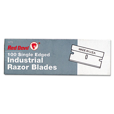 Red Devil Single Edge Scraper Razor Blades, 100 Box (3272)