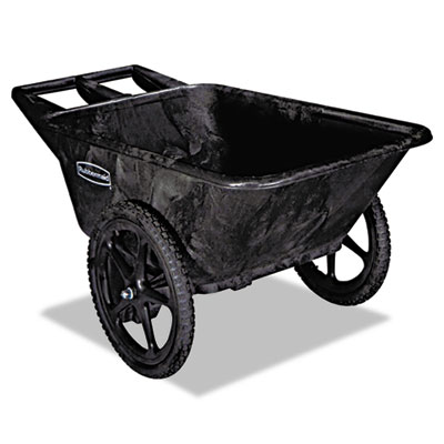 Rubbermaid Commercial Big Wheel Agriculture Cart, 300-lb Capacity, 32.75w x 58d x 28.25h, Black (FG564200BLA)