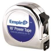"""Empire Power Tape Measure, 3/4"""" x 16ft, Metal Case, Chrome, 1/16"""" Graduation (616)"""