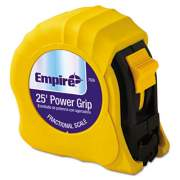 Empire Power Grip Steel Tape Measure, 1in x 25ft, Yellow (7526)