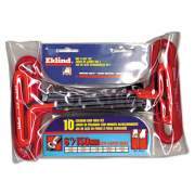 Eklind 10-Piece 6in T-Handle Hex Kit, 3/32in - 3/8in, Pouch (53610)