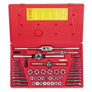 IRWIN HANSON Tap & Die Set, Steel, 53 Pieces (26394)