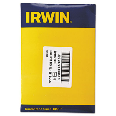 IRWIN Black and Gold HSS Fractional Drill Bit, 3/16