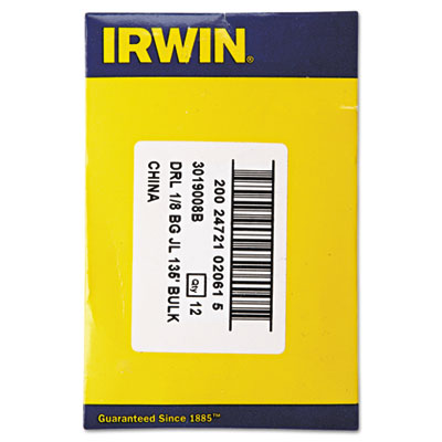 IRWIN Black and Gold HSS Fractional Drill Bit 3019008B