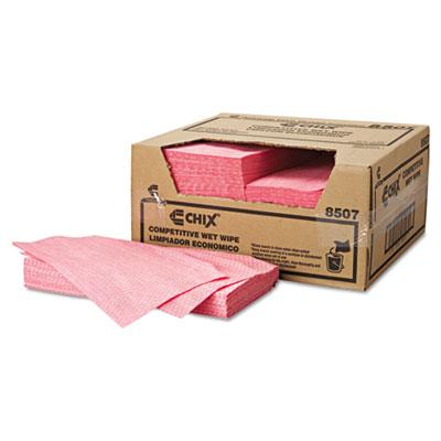 Chix Wet Wipes, 11 1/2 x 24, White/Pink, 200/Carton (8507)