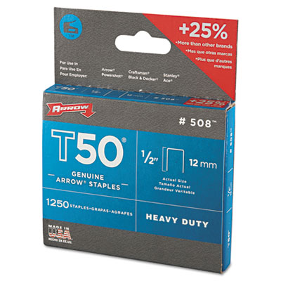 Arrow T50 Heavy Duty Staples, 0.5