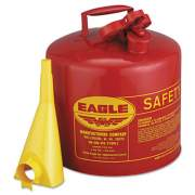Eagle Safety Can, Type I, 5gal, Red, With F-15 Funnel (UI-50-FS)