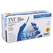 Ansell TNT Disposable Nitrile Gloves, Non-powdered, Blue, Large, 100/Box (92675L)