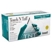 Ansell Touch N Tuff Nitrile Gloves, Teal, Size 8 1/2 - 9, 100/Box (92600859)