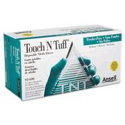 Ansell Touch N Tuff Nitrile Gloves, Teal, Size 7 1/2 - 8, 100/Box (92600758)