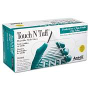 Ansell Touch N Tuff Nitrile Gloves, Teal, Size 9 1/2 - 10, 100/Box (926009510)