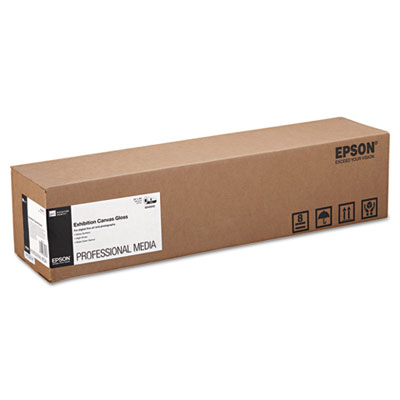 """Epson Exhibition Canvas, 22 mil, 24"""" x 40 ft, Glossy White (S045243)"""