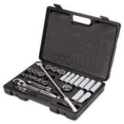 """Stanley Tools 26-Piece Mechanic's Tool Set, SAE, 1/2"""" Drive, 7/16"""" to 1 1/4"""", 6-Point/12-Point (85434)"""