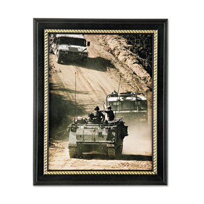 AbilityOne 7105017105014588210 SKILCRAFT Military-Themed Picture Frame, Army, Black, Wood, 8 1/2 x 11