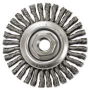 "Anderson Stringer-Bead Twist-Knot Wheel, 4"" dia, 7/8"" Trim, .20 Wire, 5/8"" Arbor (11145)"