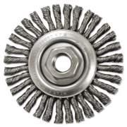"Anderson Stringer-Bead Twist-Knot Wheel, 4 1/2"" dia, 13/16"" Trim, .20 Wire, 5/8"" Arbor (12685)"