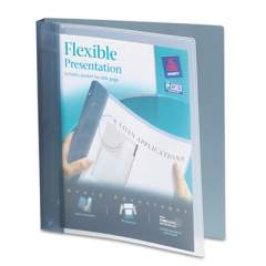 "Avery Flexible View Binder with Round Rings, 3 Rings, 1"" Capacity, 11 x 8.5, Gray (17676)"