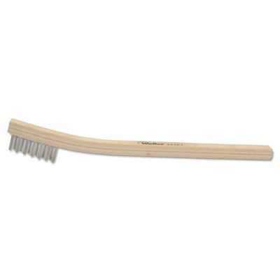 Weiler BH-37-SS Small Hand Scratch Brush, 3 x 7, Stainless Steel (44167)