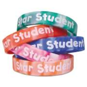 Teacher Created Resources Two-Toned Star Student Wristbands, 5 Designs, Assorted Colors, 10/Pack (6572)