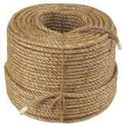 "Anchor Brand Manila Rope, 3-Strand, 3/8"" x 600ft, 25lb (3/8X600-3SB)"