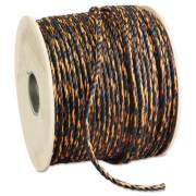 "Hooven Allison Truck Rope 3/8"" x 600' Reel Solid Twisted Orange/Black (340120-BOT-00600-R0330)"