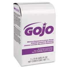 GOJO WHITE PREMIUM LOTION SOAP, SPRING RAIN SCENT, NXT 1,000 ML REFILL, 8/CARTON (2104)