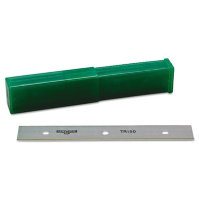 "Unger ErgoTec Glass Scraper Replacement Blades, 6"" Double-Edge, 25/Pack (TR150)"