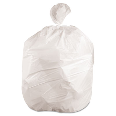 """Boardwalk Low-Density Waste Can Liners, 10 gal, 0.4 mil, 24"""" x 23"""", White, 500/Carton (H4823LWKR01)"""