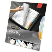 Wilson Jones Top-Loading View-Tab Sheet Protectors, 5-Tab, Letter, Multicolor Tabs (55114)