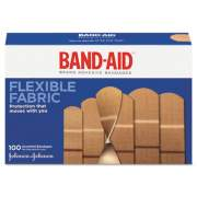 BAND-AID Flexible Fabric Adhesive Bandages, Assorted, 100/Box (11507800)