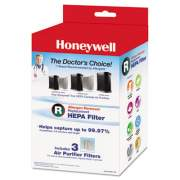 Honeywell Allergen Remover Replacement HEPA Filters, 3/Pack (HRFR3)