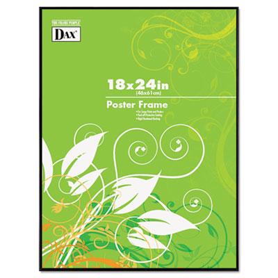 DAX Coloredge Poster Frame, Clear Plastic Window, 18 x 24, Black (N16018BT)