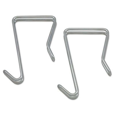 Alera Single Sided Partition Garment Hook, Silver, Steel, 2/PK (ALECH1SR)