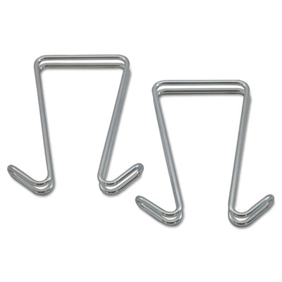 Alera Double Sided Partition Garment Hook, Silver, Steel, 2/PK (ALECH2SR)