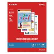 Canon High Resolution Paper, 8.5 x 11, Matte White, 100/Pack (1033A011)