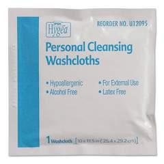 Sani Professional Hygea Adult Wash Cloths, 10 x 11.5, 1-Ply, White, 400/Carton (U12095)