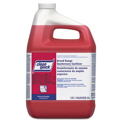 Clean Quick Broad Range Quaternary Sanitizer, Sweet Scent, 1 gal Bottle, 3/Carton (07535)
