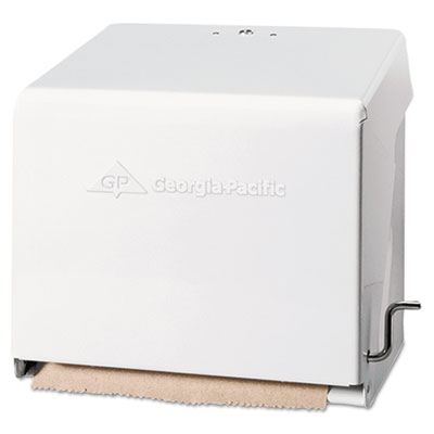 Georgia Pacific Mark II Crank Roll Towel Dispenser, 10 3/4 x 8 1/2 x 10 3/5, White (56201)
