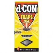 d-CON Mouse Glue Trap, Plastic, 4 Traps/Box, 12 Boxes/Carton (78642)