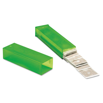 "Unger ErgoTec Glass Scraper Replacement Blades, 4"" Double-Edge, 25/Pack (TR100)"