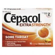 Cepacol Extra Strength Sore Throat Lozenges, Honey Lemon, 16 Lozenges/Box, 24 Box/Carton (73016CT)