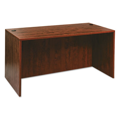 Alera Valencia Series Straight Desk Shell, 59.13w x 29.5d x 29.63h, Medium Cherry (ALEVA216030MC)