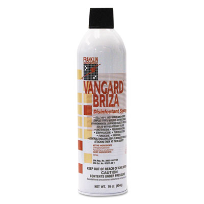 Franklin Vangard Briza Surface Disinfectant/Space Spray, Linen Fresh, 16oz Aerosol, 12/CT (F811015)