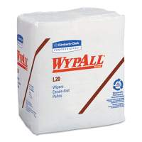 WypAll L20 Towels, 1/4 Fold, 4-Ply, 12 1/5 x 13, White, 68/Pack, 12/Carton (47022)