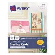 Avery Textured Half-Fold Greeting Cards, Inkjet, 5 1/2 x 8.5, Wht, 30/Bx w/Envelopes (3378)