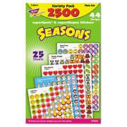 TREND SuperSpots and SuperShapes Sticker Variety Packs, Seasons, 2,500/Pack (T46914)