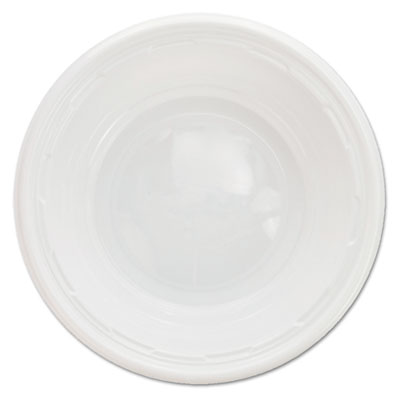 Dart Famous Service Impact Plastic Dinnerware, Bowl, 5-6 oz, White, 125/Pack (5BWWF)