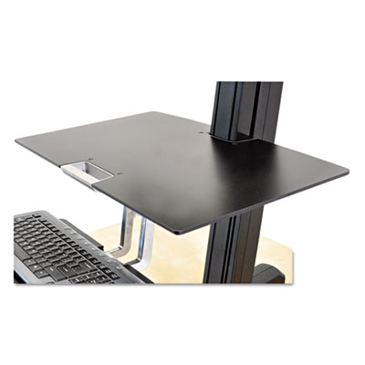 WorkFit by Ergotron Worksurface for WorkFit-S Workstations without Worksurface, 23w x 15d, Black (97-581-019)